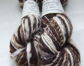 Handspun Yarn - Singles Yarn - Cocoa  - 2 x mini skeins