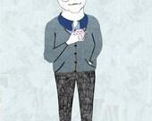 Astrid Lindgren Portrait Illustration