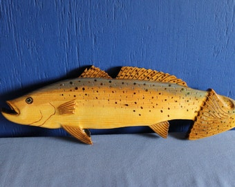 Trout, Spotted Sea Trout Wall Plaque, Wall Hanging