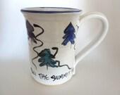 Vingtage Handcrafted Pottery Mug - Stoneware - Ski the Summit - Colorado - Vintage Ski