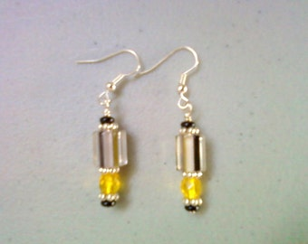 Black and Yellow Earrings (0661)