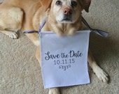 Dog Save the Date Sign With Date Photography Prop engagement photos, save the date banner