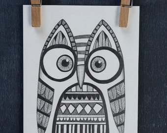 Original Owl Illustration