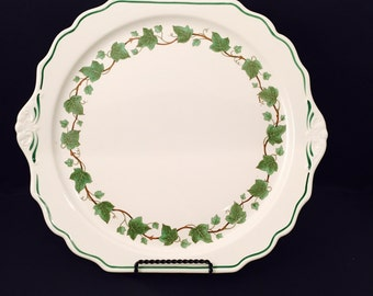 Vintage Cake Plate Platter Harker Cake Plate English Ivy Design Cooking Ware Hot Oven