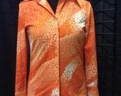 Vintage Peggy Gordon artesian blouse