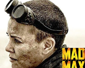 MAD MAX Fury Road - Steampunk Goggles - Charlize Theron 'Imperator Furiosa' Post Apocalyptic, World War III Survival Riding Goggles