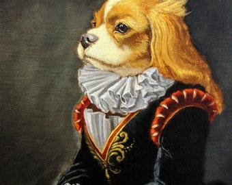 "King Charles Cavalier - ""Lady O"" 5x7 print"