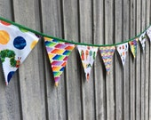 Fabric Bunting Flags Birthday Banner Party Decoration Very Hungry Caterpillar Fabric Pennant Banner Happy Birthday Decoration