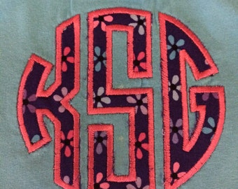Appliqued Circle Monogram Shirt