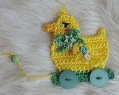 Duck on Wheels Applique Embellishment Crochet Pattern by Teri Crews