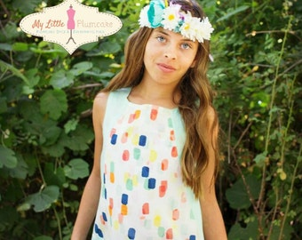 Monore Color Block Tunic/Dress PDF Sewing Pattern and Tutorial - Tween Pattern