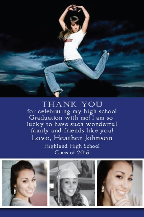 Graduation Thank You Card 2015 Any colors by ...