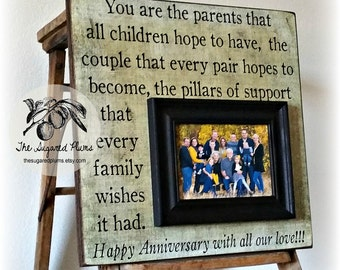 Parents Anniversary Gift, 50th Anniversary Gifts, You are the Parents That, Anniversary Frame, 16x16 THE SUGARED PLUMS