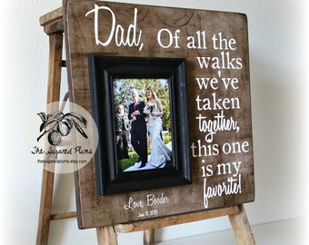 Personalized Picture Frame, Father of the Bride Gift, Of All The Walks, 16x16 The Sugared Plums Frames