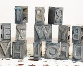 Letter Press, Metal Print Press Letters, Captial Letters, Vintage