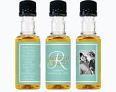 Custom Jack Daniels Mini Bottle Labels Wedding Favors Thank You Rehearsal Dinner Reception Photo Whiskey Bridal Party Groomsmen Gift EB-1105