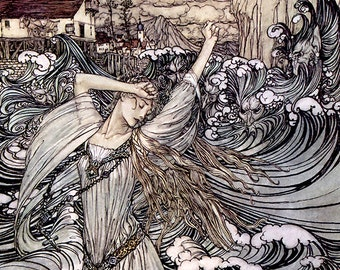 Undine,  Arthur Rackham, Vinatge Art Print