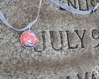 Julia (July) Moon Pendant Necklace