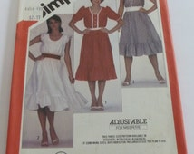 UNCUT Simplicity 5841 Misses Pullover Dress Pattern with Sleeve Variations Sizes 6-8-10
