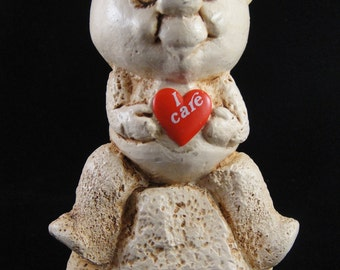 I Care Bear Holding Red Heart Figurine Paula 1982 W 647