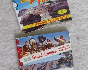 A Pair of Mini View Albums of the Grand Canyon and the Petrified Forest