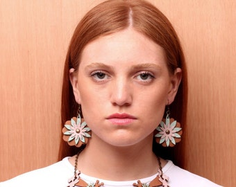 MBURUCUYA leather earrings - several colors available