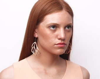GOLONDRINA leather earrings (Gold or Black)