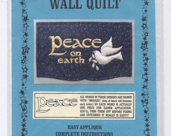 PEACE ON EARTH Quilted Wall Hanging Pattern