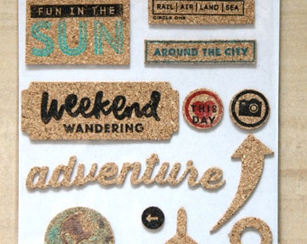 Cork Stickers: Adventure