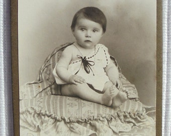 French Antique CDV Baby Photograph (F. Kaiser, Nancy, France)