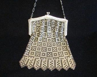 1920's Purse Enamel Mesh Purse Whiting & Davis Purse Art Deco Purse Handbag Vintage Purse Formal Purse Evening Bag