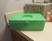 Apple Green Sewing Storage Box