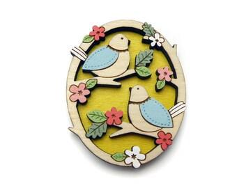 Two Little Birds Brooch