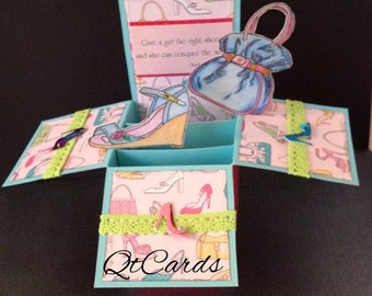 Girls and our shoes box card