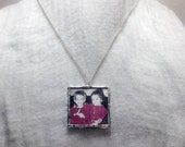 Custom Photo Jewelry - Silver Soldered Pendant - Mother's Day Necklace