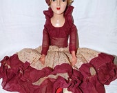 1960s Candy Fashion Doll Antique Boudoir Doll Vintage