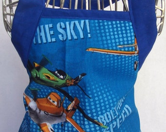 Kids Apron Dusty Wonderful Disney Planes In Blue