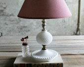 Vintage Milk Glass Lamp Base No. 1
