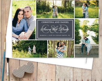 Save-The-Date-Wedding-Magnets, Save The Date Photo Magnet - 6 Photo