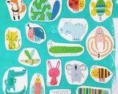 Temporary Tattoos - Full Set - Bugs & Animals
