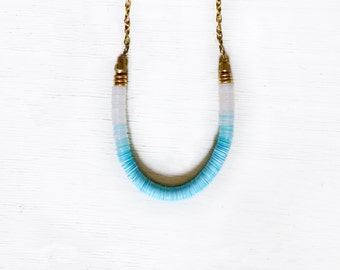 Ombre blue necklace
