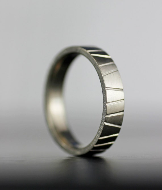 Men 39 S Modern Wedding Band Unique Hand Textured Simple