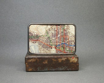 Belt Buckle Vintage Washington D.C. Map Unique Gift for Men or Women