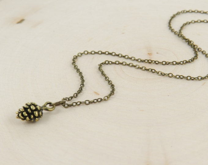 Pinecone Necklace, Gold, Silver, Antique Bronze Pinecone Necklace, Pine Cone Necklace, Pinecone Jewelry