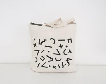 Pattern - Maxi canvas bag - Geometric 80s pattern