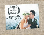 Shield Wedding Thank You Card Design