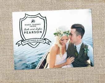 Shield Wedding Thank You Card Design