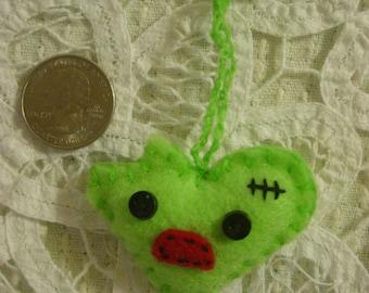 Zombie Heart Ornament Zipper Pull Charm