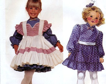 McCall's 3398 Children's Dress and Pinafore Sewing Pattern - Uncut - Size 4, 5, 6