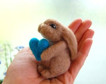 Needle Felted Bunny. Velveteen Rabbit. Woodland Animal. Baby Boy Nursery. Needle Felt Animal. Felt Toy. Needle Felted Animal. Bunny Toys